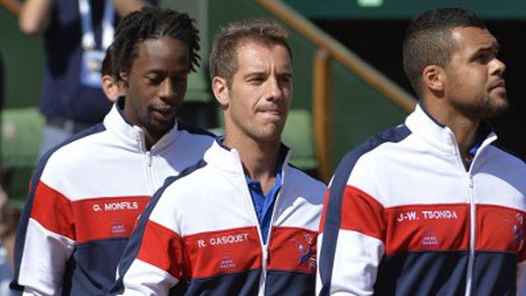Gaêl Monfils, Richard Gasquet, Jo-Wilfried Tsonga, trois cadres de l'équipe de France