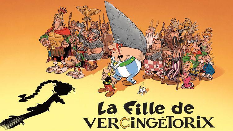 """""""La fille de Vercingétorix"""", extrait de la couverture provisoire  (Editions Albert René - 2019)"""