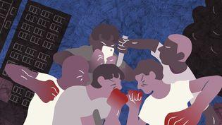 Dans l'Essonne, les affrontements entre bandes rivales ont faitquatre morts en moins d'un an. (JESSICA KOMGUEN / FRANCEINFO)