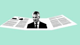 """Bruno Le Maire a détailléses propositions dans son """"contrat présidentiel"""" de 1000 pages. (VINCENT WINTER / FRANCEINFO)"""
