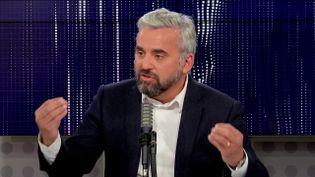 Alexis Corbière, député La France insoumise de Seine-Saint-Denis, porte-parole de Jean-Luc Mélenchon, sur franceinfo le 14 octobre 2021.  (FRANCEINFO / RADIO FRANCE)