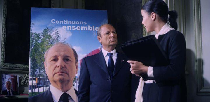 Patrick Braoudé alias Jean-François Vanier, président de la République  (Allociné)