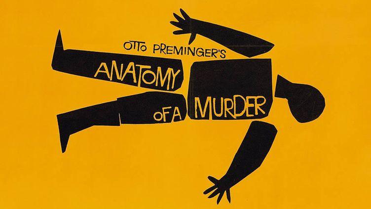 """L'affiche d'""""Anatomie d'un meurtre"""" d'Otto Preminger par Saul Bass  (Saul Bass)"""