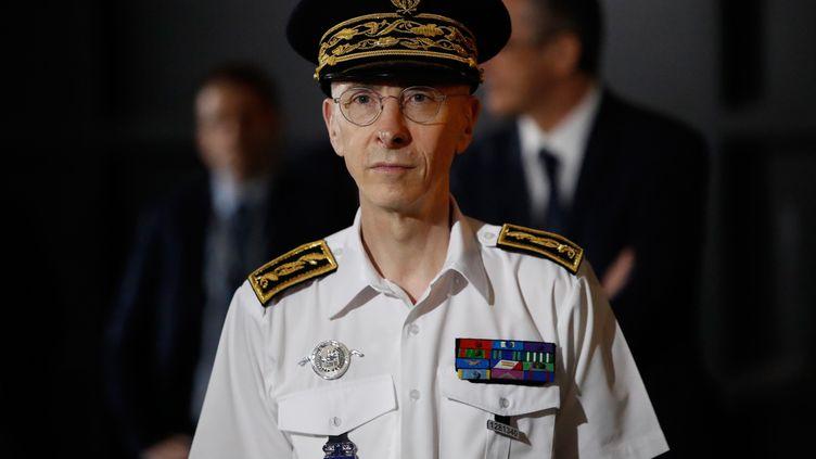 Le préfet de police de Paris Didier Lallement, le 5 juillet 2020, àLa Courneuve (Seine-Saint-Denis). (THOMAS COEX / AFP)