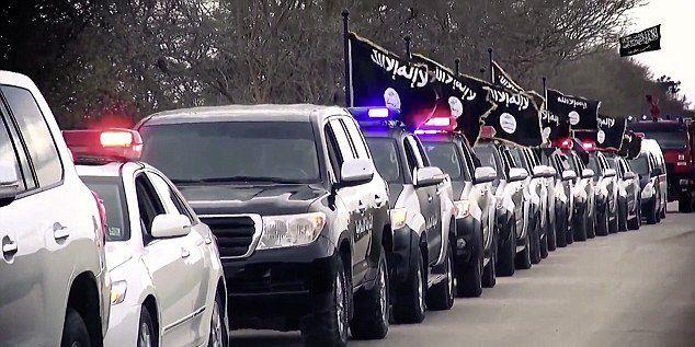 Parade de 4X4 de Daech en Libye (DR)