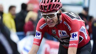 ChristopherFroome,lors du Tour d'Espagne 2017, le 9 septembre 2017. (JOSE JORDAN / AFP)