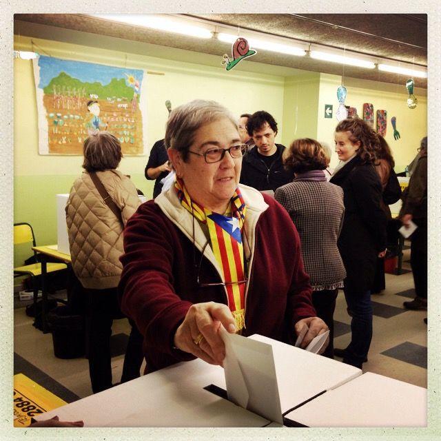 Margarita, 67 ans, se souvient du régime de Franco. (VINCENT DANIEL / FRANCETV INFO)