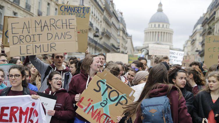 Unemarche pour le climat à Paris, le 15 mars 2019. (THOMAS SAMSON / AFP)