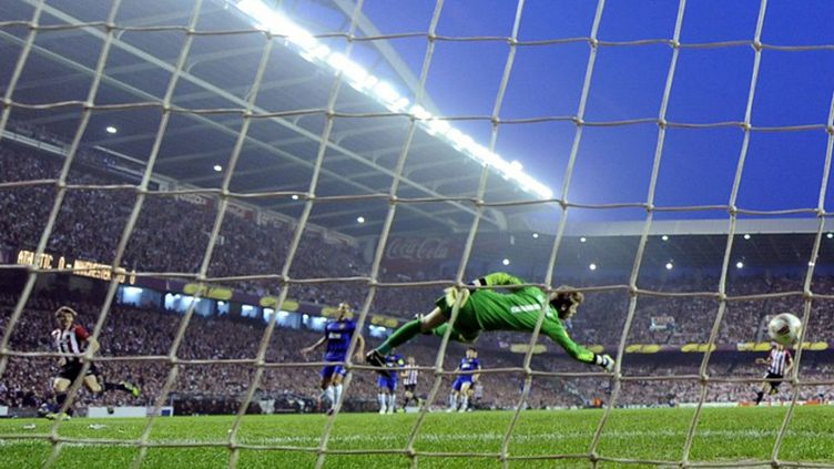 Llorente marque pour Bilbao (JAVIER SORIANO / AFP)