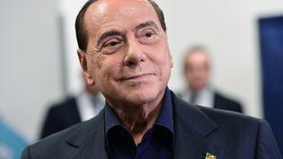 L'ancien chef du gouvernement italien, Silvio Berlusconi, à Milan (Italie), le 26 mai 2019. (MIGUEL MEDINA / AFP)