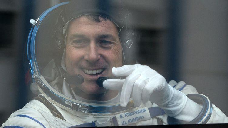 Shane Kimbrough, le 19 octobre 2016, juste avant son départ pour la Station spatiale internationale. (VASILY MAXIMOV / AFP)