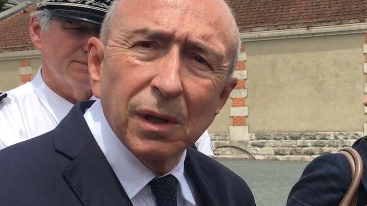 Gérard Colllomb à Périgueux, le 8 juin. (FRANCE BLEU PERIGORD / RADIO FRANCE)