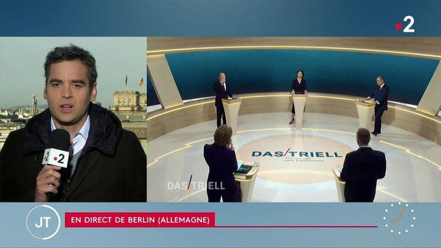 Allemagne : les candidats à la chancellerie s'affrontent à la télévision