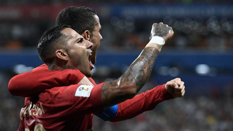 Ricardo Quaresma a marqué un but contre l'Iran, le 25 juin 2018. (FILIPPO MONTEFORTE / AFP)