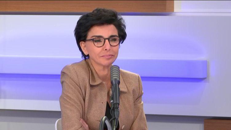 Rachida Dati, invitée de franceinfo vendredi 13 mars 2020. (FRANCEINFO / RADIOFRANCE)
