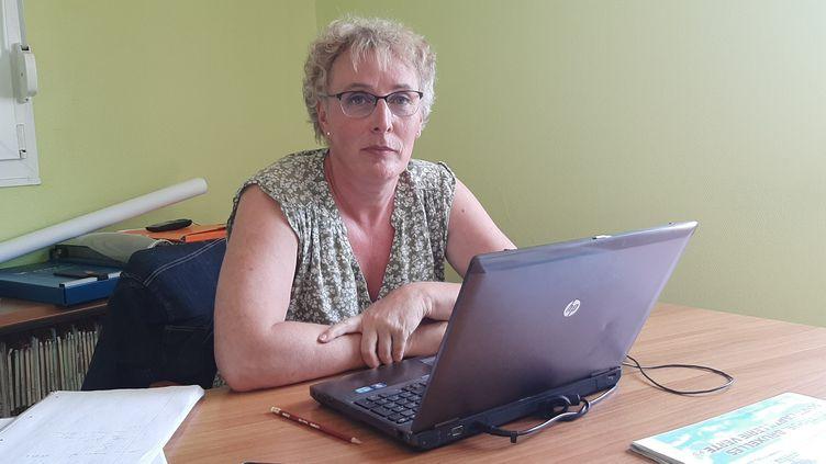 Marie Cau, maire deTilloy-lez-Marchiennes (Nord). (SEBASTIEN BAER / RADIO FRANCE)