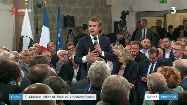 Corse : Emmanuel Macron offensif face aux nationalistes