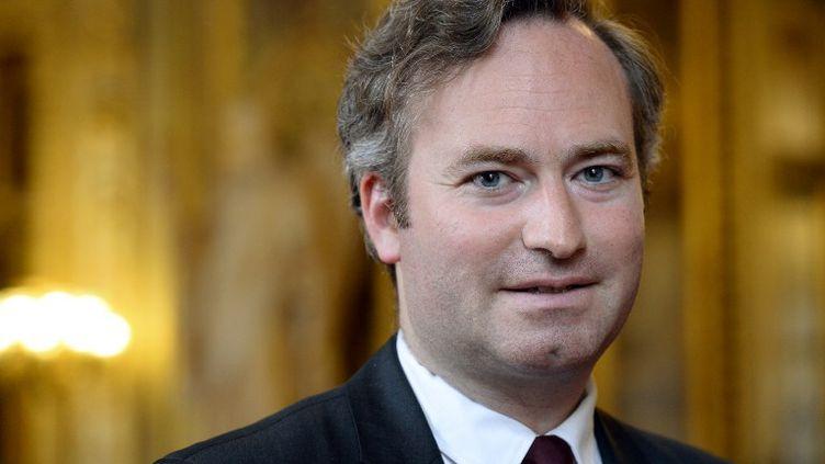 Jean-Baptiste Lemoyne, sénateur Les Républicains, est le président de la fédération LR de l'Yonne. (BERTRAND GUAY / AFP)
