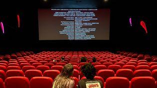 Une salle de cinéma à Paris, le 26 juin 2020. (J?R?ME LEBLOIS / HANS LUCAS)