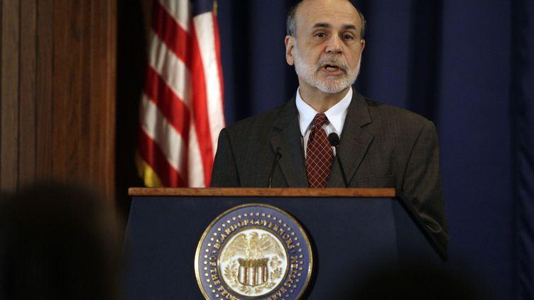Le président de la banque centrale américaine Ben Bernanke, le 9 novembre 2011 à Washington (Etats-Unis). (HYUNGWON KANG / REUTERS)