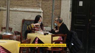 Les restaurants ont rouvert à Rome (FRANCEINFO)