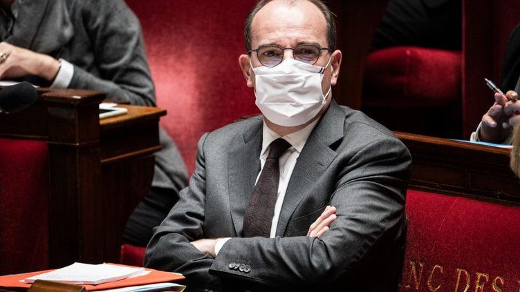 Le Premier ministre Jean Castex à l'Assemblée nationale le 3 novembre 2020. (Xosé Bouzas / Hans Lucas / Hans Lucas via AFP)