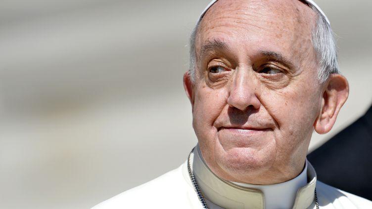 Le pape François sur la place Saint-Pierre, à Rome, le 3 septembre 2014. (ANDREAS SOLARO / AFP)