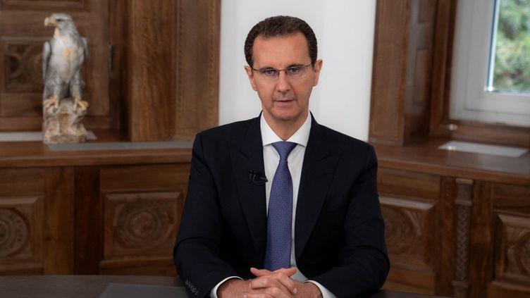 Le président syrien Bachar al-Assad, le 28 mai 2021. (SANA / AFP)