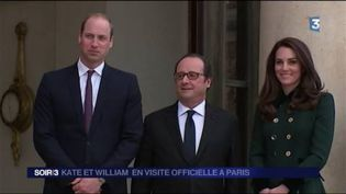 François Hollande a reçu William et Kate à l'Élysée. (FRANCE 3)