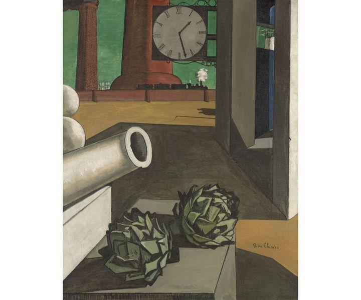 """Giorgio de Chirico, """"La conquête du philosophe"""", 1913-14,Art Institute of Chicago (Photo © Art Institute of Chicago, Dist. RMN-Grand Palais / image The Art Institute of Chicago © ADAGP, Paris, 2020)"""