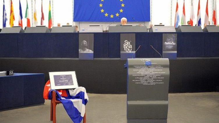 Le prix Sakharov récompense les personnalités qui se battent pour les droits de l'homme et la réconciliation. (AFP)