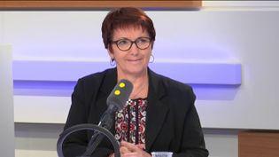Christiane Lambert, présidente de la FNSEA, le 3 décembre 2018 sur franceinfo. (FRANCEINFO / RADIOFRANCE)
