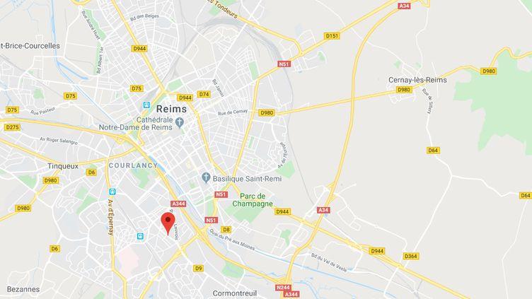 Le boulevardLouis Barthou à Reims. (CAPTURE ECRAN GOOGLE MAPS)