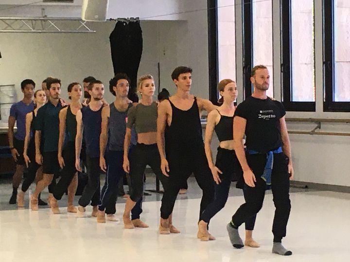 Les danseurs du CCN Malandain Ballet Biarritz répètent Beethoven 6 (Valérie Gaget)