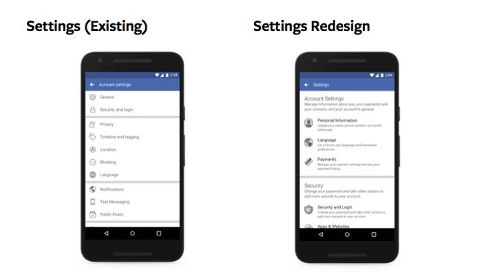 Les paramètres de confidentialité de Facebook vont être réorganisés en un seul et même menu (Communiqué de Facebook)