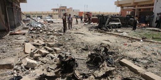 Attentat anti-chiite à Khaldiya (centre de l'Irak) le 13 juin 2012 (AFP - AZHAR SHALLAL )