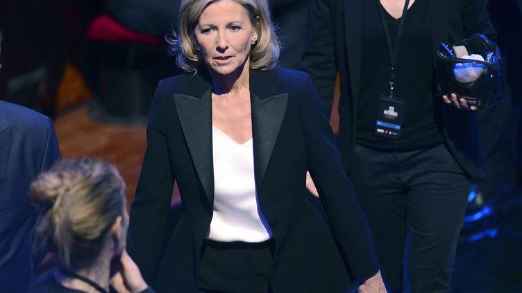 Claire Chazal lors des Victoires de la musique classique, le 24 février 2016 à Tuolouse (Haute-Garonne). (REMY GABALDA / AFP)