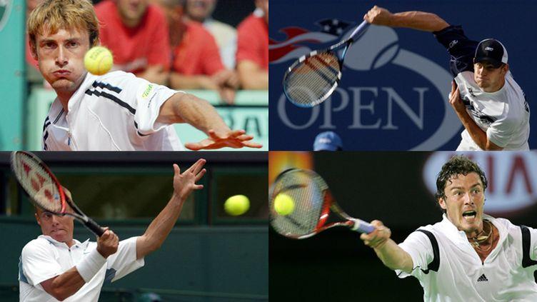 De gauche à droite: Juan Carlos Ferrero, Andy Roddick, Lleyton Hewitt et Marat Safin