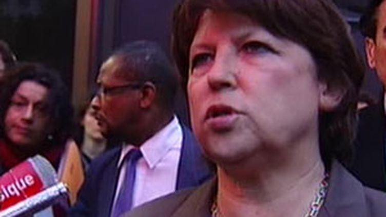 La première secrétaire du PS Martine Aubry, le 8 juin 2009. (© France 2)