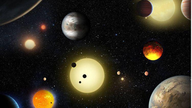(Vue d'artistes des nouvelles planètes découvertes par la Nasa © Nasa)