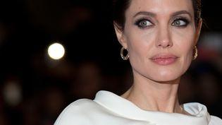 """L'actrice Angelina Jolie à la première du film """"Unbroken"""", à Londres (Royaume-Uni), le 25 novembre 2014. (JUSTIN TALLIS / AFP)"""