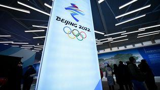 Le logo des J.O de Pékin 2022 (5 février 2021). (WANG ZHAO / AFP)