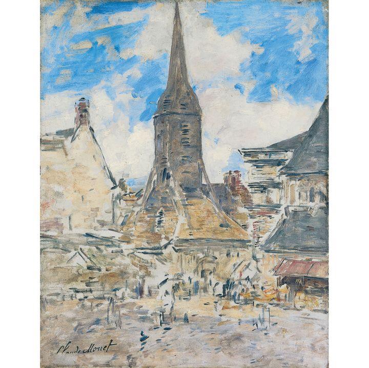 """Eugène Boudin, """"Le clocher de Sainte-Catherine, Honfleur"""", vers 1897, Honfleur, musée Eugène Boudin, don Michel Monet, 1964  (Henri Brauner )"""
