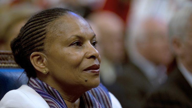 ChristianeTaubira, ministre de la Justice, le 9 janvier 2013. (JOEL SAGET / AFP)
