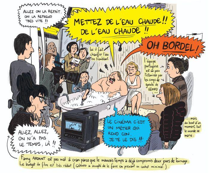 """Gérard, dans les pattes de Depardieu"", page 86  (Mathieu Sapin / Dargaud)"