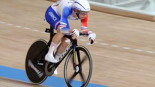 Benjamin Thomas lors de l'épreuve d'omnium aux Jeux Olympiques de Tokyo. (AGENCE KMSP / KMSP via AFP)