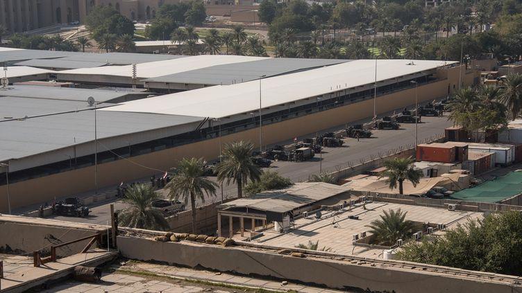 L'ambassade américaine à Bagdad (Irak), le 1er janvier 2020. (HANDOUT . / REUTERS)