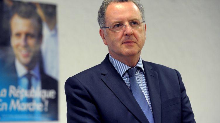 Richard Ferrand le 2juin, candidat dans la 6e circonscription du Finistère. (FRED TANNEAU / AFP)