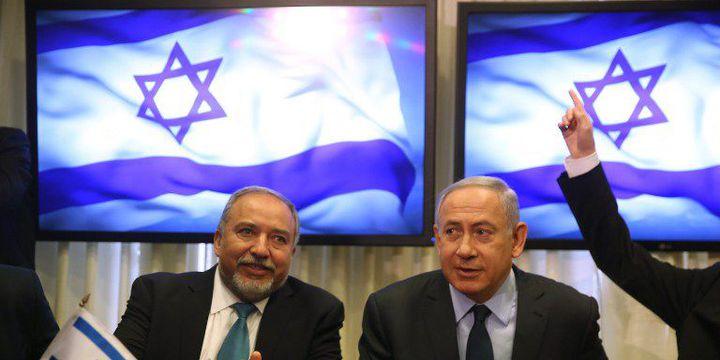 Lieberman et Netanyahu (MENAHEM KAHANA / AFP)