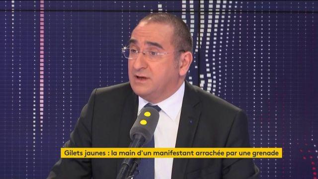 """""""L'armement intermédiaire en France est indispensable pour éviter du corps-à-corps"""", estime Laurent Nuñez, secrétaire d'État auprès du ministère de l'Intérieur"""